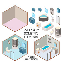 bathroom interior constructor flat vector image
