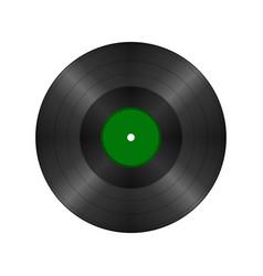 black vintage vinyl record vector image