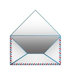 Blank paper envelopes opened with blue outline vector