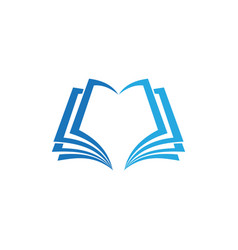 book education business logo vector image