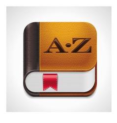 Book with bookmark xxl icon vector