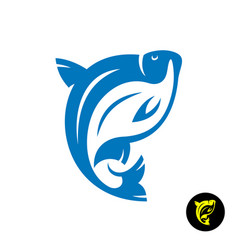 bream fish logo stylized dynamic freshwater bream vector image