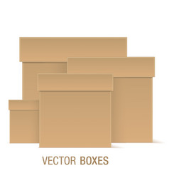 brown boxes of different sizes vector image