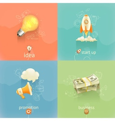 Business concepts set vector image