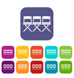 chairs icons set vector image