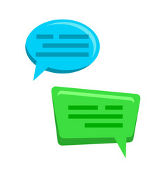chat bubbles icons web message dialog vector image