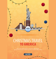 Christmas travel to america usa mexico canada vector