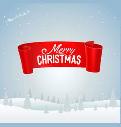 christmas tree tape design banner vector image