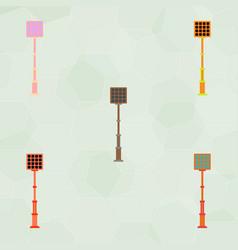 City street lantern set vector