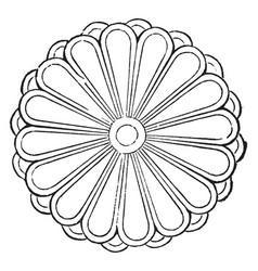 Coat of arms japan vintage vector