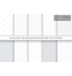 collection geometric simple seamless vector image