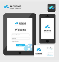 company design smart phone and tablets app and vector image