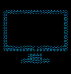 computer display collage icon of halftone spheres vector image