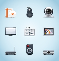 computer peripherals icons vector image