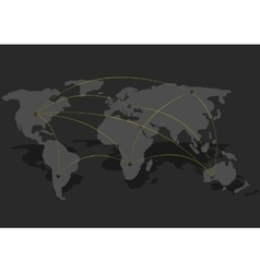 Connection World map vector image