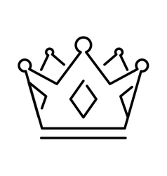 Crown of the king or royal crown line art icon vector image