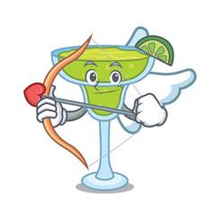 cupid margarita character cartoon style vector image