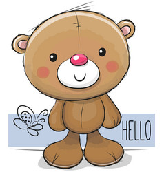 Cute teddy bear on a white background vector