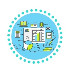 Data Analysis Icon Flat Design vector image