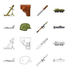 Design of weapon and gun logo set of vector