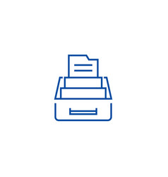 document archivebox with files line icon concept vector image