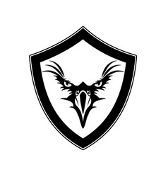 eagle design black with shield vector image