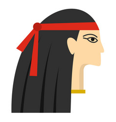 Egyptian princess icon isolated vector