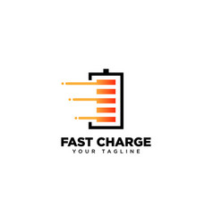 Fast charge logo design template vector