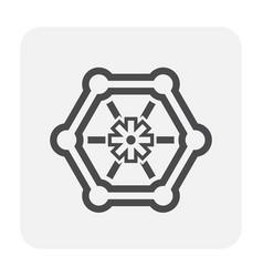 Faucet icon black vector