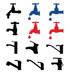 faucets vector image