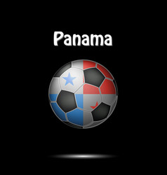 flag of panama in the form of a soccer ball vector image