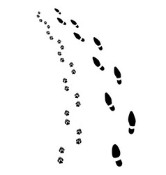Footprints turn left vector