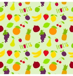 Fresh fruits flat seamless pattern vector image