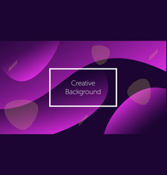 futuristic background with liquid wavy shapes vector image