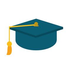Gaduation cap education symbol vector