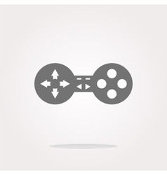 game controller web icon button isolated vector image