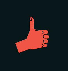 Gesture like sign stylized hand with thumbs up vector