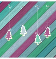 Gingerbread with Christmas tree branches EPS8 vector image