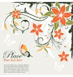 grunge decorative floral vector image