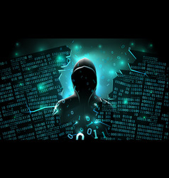 hacker using internet hacked abstract vector image