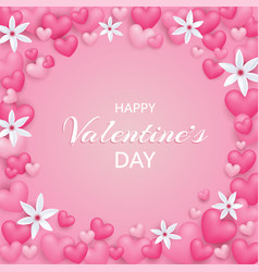 happy valentines day beautiful and cute card vector image