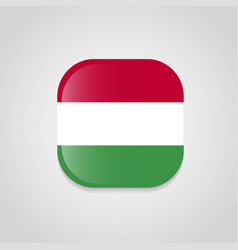 hungary flag design round button vector image
