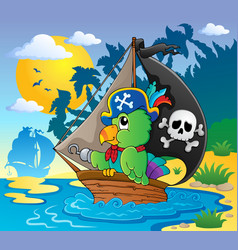 image with pirate parrot theme 2 vector image