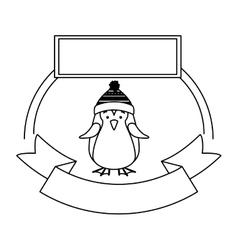 Isolated penguin of Christmas season design vector image