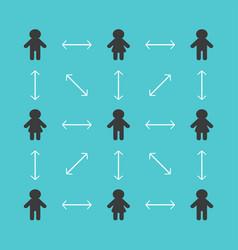 keep social distance sign man boy woman girl icon vector image