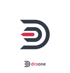 Letter d logo design template vector
