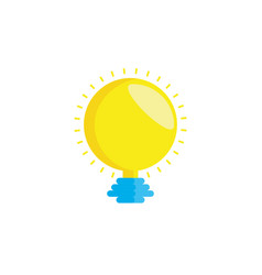light bulb isolated icon vector image
