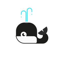 logotype whale logo for logistic delivery vector image