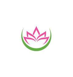 Lotus flowers logo vector