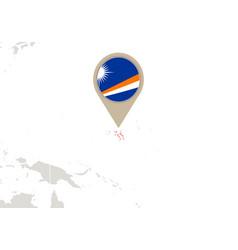 Marshall islands on world map vector